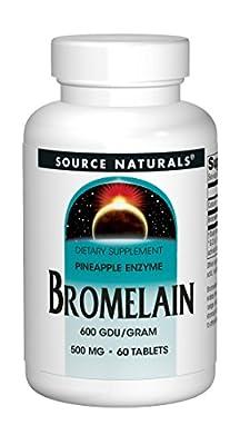 Source Naturals Bromelain, 500mg, 60 Tablets