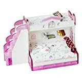 Baoblaze Mobili Letto A Castello Doppia Camera da Letto in Plastica Panno per Miniature Dollhouse 1/12 - Multicolore # 2