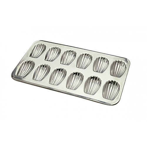 Madeleine Mold 12 Cavities. Each cavity: 3-1/4X2. Overall size of pan: 15-1/2X9 by Gobel