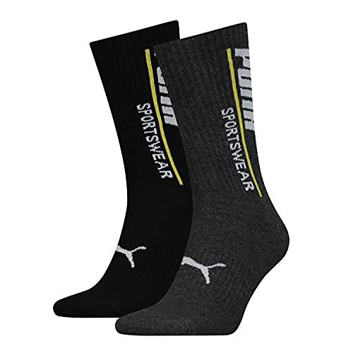 PUMA Herren Classic 2 Pack Sport Socks Socken Weiß Lrg