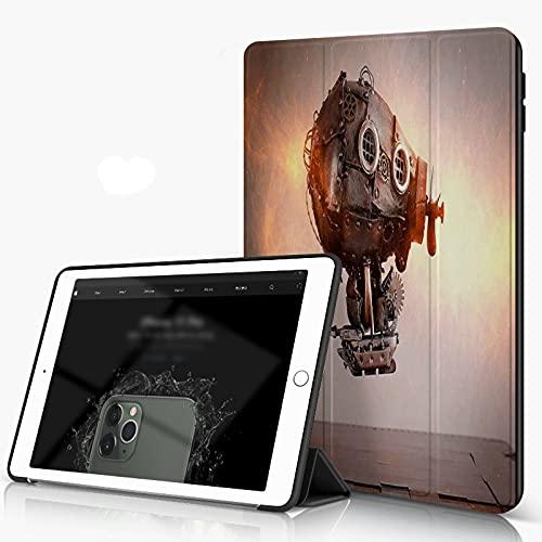 She Charm Funda para iPad 9.7 para iPad Pro 9.7 Pulgadas 2016,Steampunk Airship Gears Tablero de ajedrez Vuelo,Incluye Soporte magnético y Funda para Dormir/Despertar