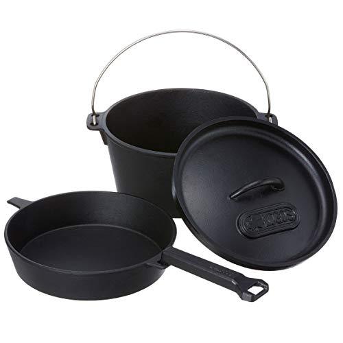 ロゴス(LOGOS) ダッチオーブン&スキレット・9inch(バッグ付き) 81062237