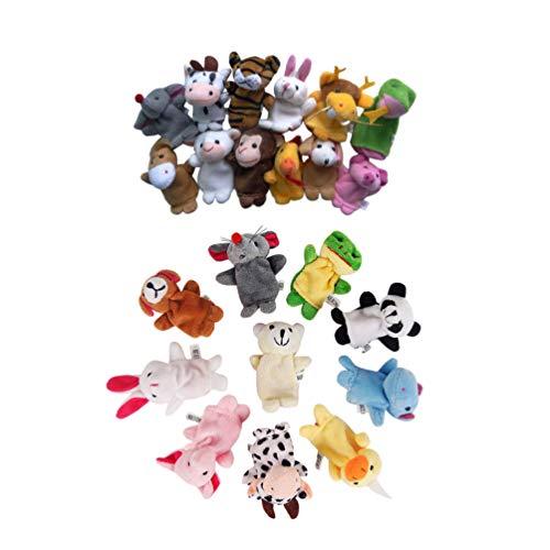 Toyvian I Pupazzi delle Dita Animali 22Pcs Peluche Bambole Morbide del Giocattolo del Bambino Placano per Il Tempo della Storia del Bambino