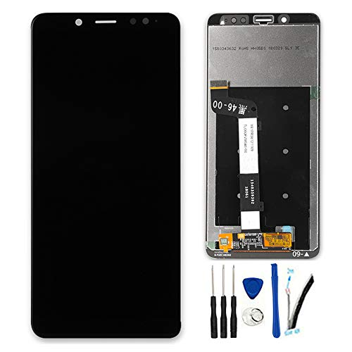 SOMEFUN Display di Ricambio per Xiaomi Redmi Note 5 PRO 【Snapdragon 636】 5.99' LCD Display Schermo Touch Screen Digitizer Assemblea [Non Funziona per Redmi 5 Plus]【Nero Senza Cornice】