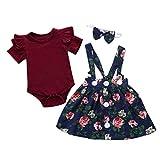 Yanhoo-Kinder Mädchen Sommer Streifen Kurzarm Baumwolle T-Shirt Kleid 1-8 Jahre Weise Nette Baby des neuen Kleinkind -Kleidung Denim Top Sun Flower Princess Tutu-Kleid