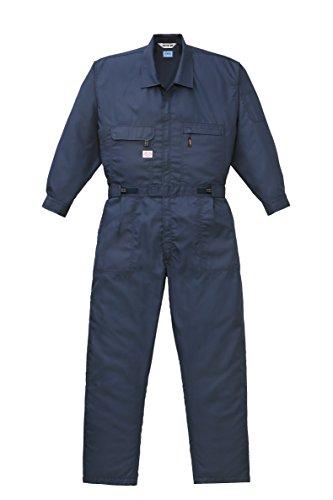 山田辰 空調服用 長袖つなぎ服 9820 ネイビーブルー M (ファン・ケーブルセット/バッテリー別売)