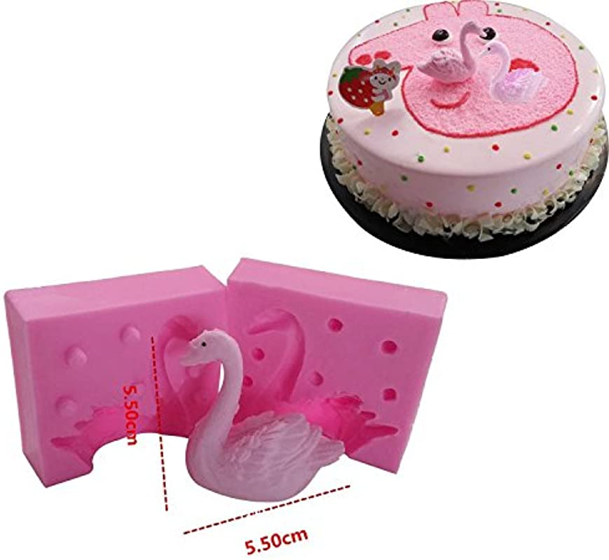 WYD 3D Swan Cake Decorative Silicone Mold DIY Baking Mold Chocolate Mold Silicone Fondant Mould