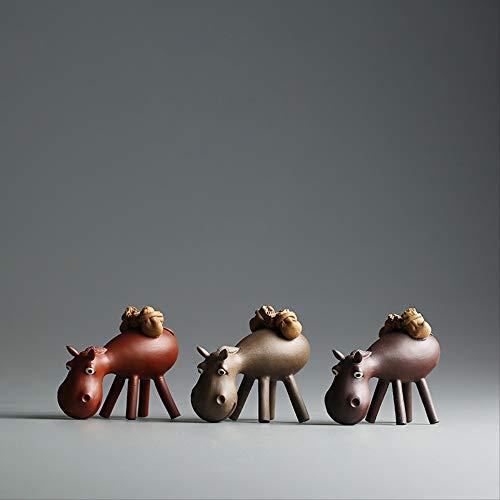 LUOSHUI Yixing Lila Ton Tee Haustier Handgemachte Esel Zisha Chinesische Lila Haustiere Ton Glasur Teapets Kunst Sammlerstück Home Decoration