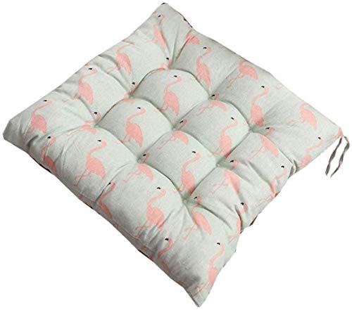 Cojines de silla para sillas de comedor, cojín de asiento y almohadillas con lazos de 40 x 40 cm, cocina de jardín en casa, espuma suave, lavable, E