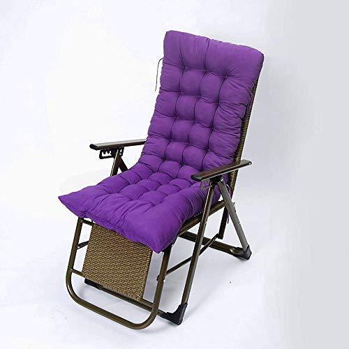 FCXBQ Cojín reclinable Tumbona Recambio de Tela lijada Patio clásico de jardín Silla Gruesa Almohadilla Relajante Muebles de jardín para Patio Exterior 175 * 48 * 8 cm