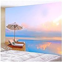 """タペストリー BY MJMCYBQQY カジュアルで快適なビーチの風景3Dプリント壁掛け寝室リビングルームホール壁画タペストリー 59.05""""x51.18""""Inch(150x130 Cm)"""
