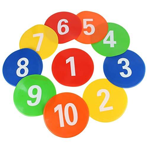Vbest life 10 Piezas Marcadores de fútbol, Equipo de Entrenamiento de fútbol Señales Discos Señales Marcadores de Disco Discos Planos Discos de Pelota de fútbol Conos Planos Marcadores de Puntos