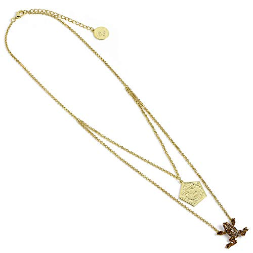 HARRY POTTER Plata Chapado en Oro de Ley Chocolate Rana Collar con Cristales Swarovski