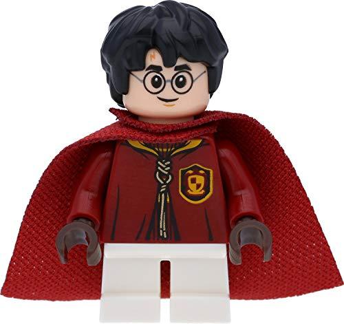 LEGO Harry Potter Minifigure di Harry Potter in quidditch Uniforme (Gryffindor) con mantello e bacchette magiche