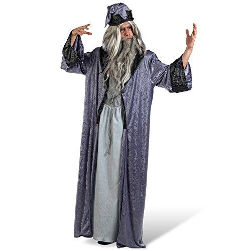 Mascarada MA618 Costume de Merlin pour Homme 2 pièces avec Chapeau Magique Taille XL