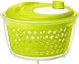 Rotho Fresh, Hilandera de ensalada, Plástico PP sin BPA, verde, transparente, 4.5l 25.0 x 25.0 x 16.5 cm