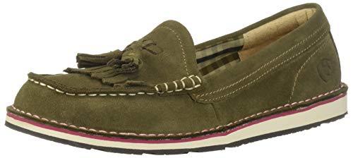 Ariat Women's TASSEL CRUISER Slip On Shoe, Olive, 6.5 B US