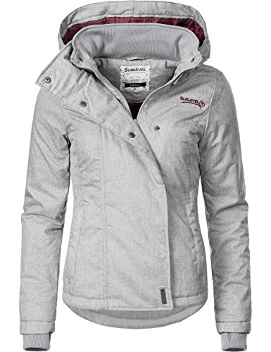 Sublevel Damen Übergangsjacke Outdoorjacke 46550D Pencil Grey Gr. XL
