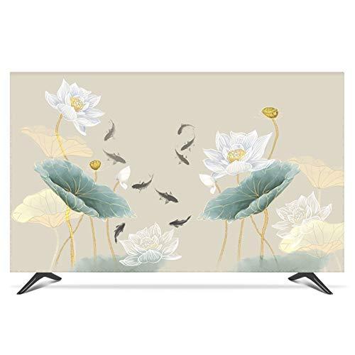 LIUDINGDING-zheyangwang Cubierta de TV Cubierta de Polvo Lotus LCD TV Tela Caja Protectora Resistente al Agua (Color : Lotus, Size : 37inch)