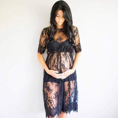 Zwangerschapskleding Kanten doorschijnende jurk Zwangerschapskleding Zwangerschapscadeaus Casual Dames Zwangerschapskleding Voedingstops Zwangerschapstops
