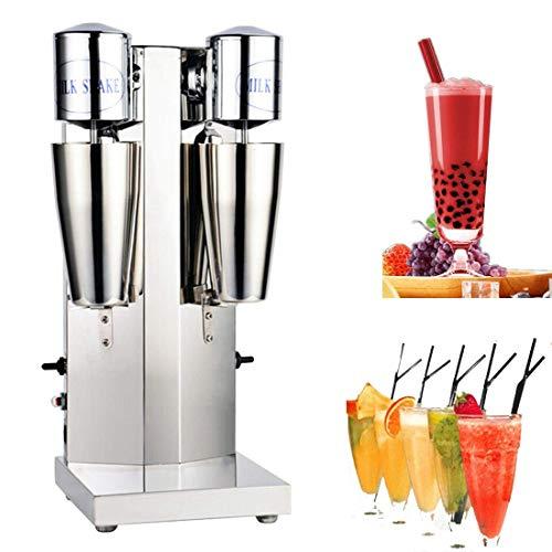 DNYSYSJ Electric Milkshake Maker Commercial Stainless Steel Drink Mixer Shake Machine Speed Adjustable Smoothie Milk Ice Cream Blender (Double-Cup)