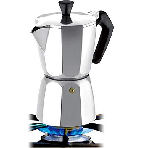 Pot Moka Pot Hand-en-klare thee te Manual Machine van de Koffie Koffie Appliance Stovetop koffiezetapparaten coffee pot (Color : Silver, Size : 3 cup)