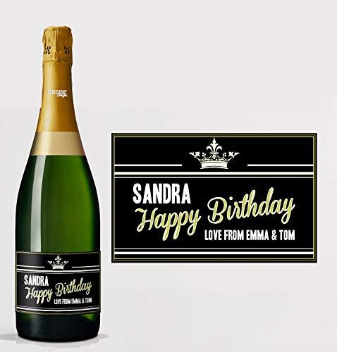 Gepersonaliseerde Prosecco/Champagne Gefeliciteerd Fles Label - Elke bewoording