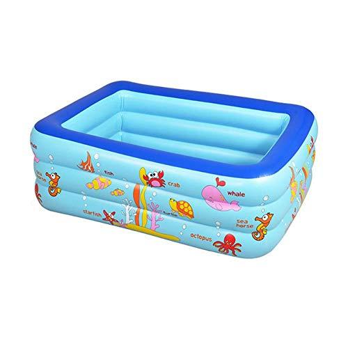 XCLWL Piscina Infantil Natación Inflable Adecuado para Adultos de Interior al Aire Libre Bebé al Aire Libre jardín de Flores Fiesta de Agua de Verano