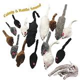😻[Conception spéciale ]---- ces souris sont dotées d'un ingrédient naturel à base d'herbe à chat et ont également un bruit de bruissement qui éveille rapidement l'intérêt de votre chat. Le jeu de souris colorées comprend 3 souris à plumes et le jeu d...