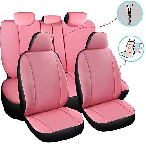 chifeng Juego de fundas de asiento de coche, 5 asientos, piel sintética, universales, para BMW E39 E60 F10 F11, Audi A3 A4 A6 Q3 Q5 W203 W204 W205