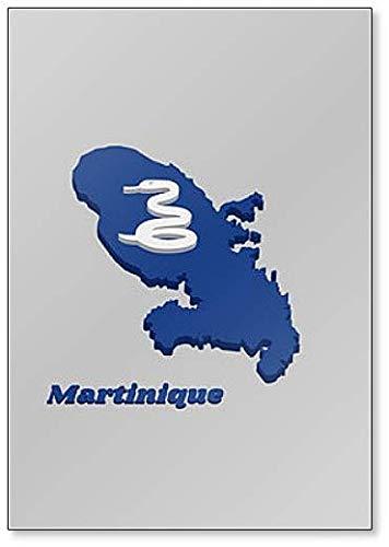 Kühlschrankmagnet, Motiv Karte & Flagge von Martinique
