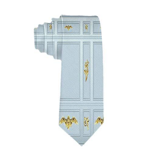 Corbata de corbata de negocios clásica para hombres Corbatas de moldura de...