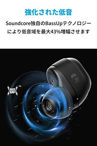 【第2世代】AnkerSoundcoreLibertyNeo(ワイヤレスイヤホンBluetooth5.0)【IPX7防水規格/最大20時間音楽再生/Siri対応/グラフェン採用ドライバー/マイク内蔵/PSE認証済】(ブラック)