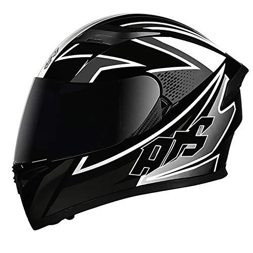 Casco de Motocicleta Casco Integral ECE Homologado Adultos Casco de Moto para...