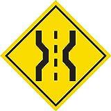 Vinyl Decal Safety Road Sign Sticker - Narrow Bridge Ahead - 5' Wide (10)