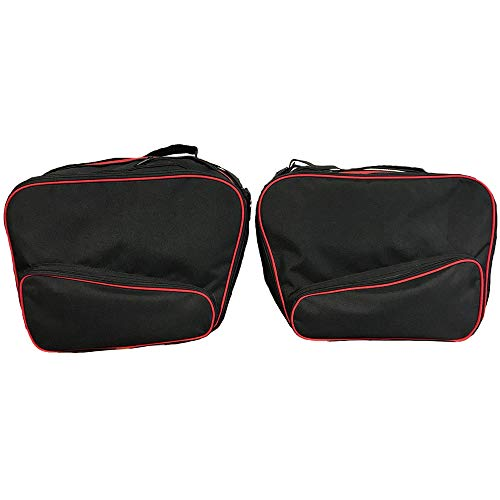 GREAT BIKERS GEAR - Pannier Liner Luggage Bags to fit BMW R1200RT LC New quality pair Red/Black