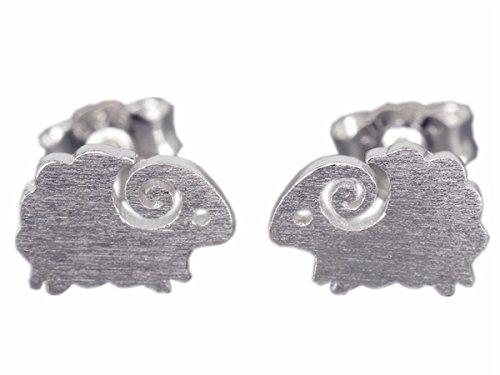 NicoWerk SOS150 - Pendientes de plata 925, diseño de oveja