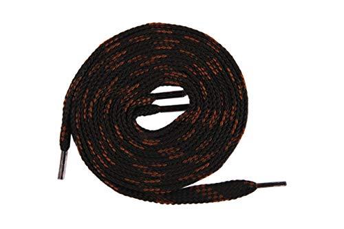 Die Schuhanzieher Bergschuhsenkel Schnürsenkel für Arbeitsschuhe Wanderschuhe flach 8mm z2213(120 cm,schwarz braun)
