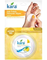 Kara Lemon Nail Polish Remover Wipes, 30 Count