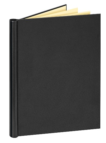 Veloflex 4944080 Klemmbinder DIN A4 mit Ledernarbung, Leder-Optik, Füllmenge max. 150 Blatt, schwarz