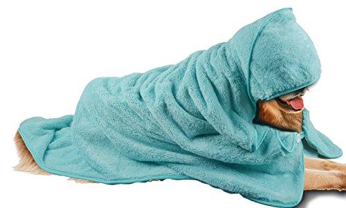 SINLAND Microfiber Oversized Hooded Bath Pet Towel