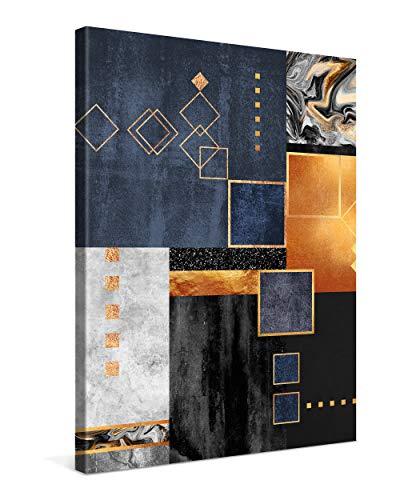PICANOVA – Construction 75x100cm – Premium Leinwanddruck – Kunstdruck Auf 2cm Holz-Keilrahmen Für Schlaf- Und Wohnzimmer Von Elisabeth Fredriksson