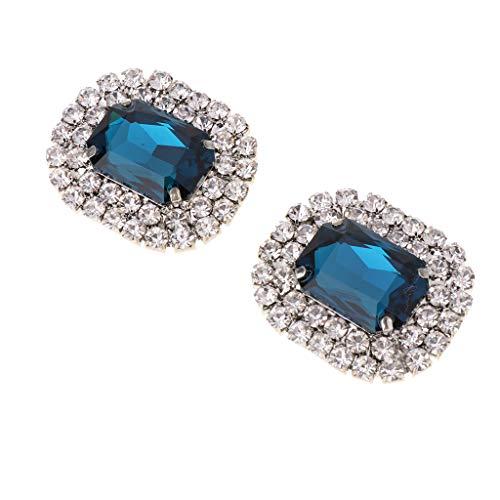 Hellery Clips para Zapatos Rhinestone Crystal Zapato Colgante Zapato Joyas Decoración Vintage para - Azul