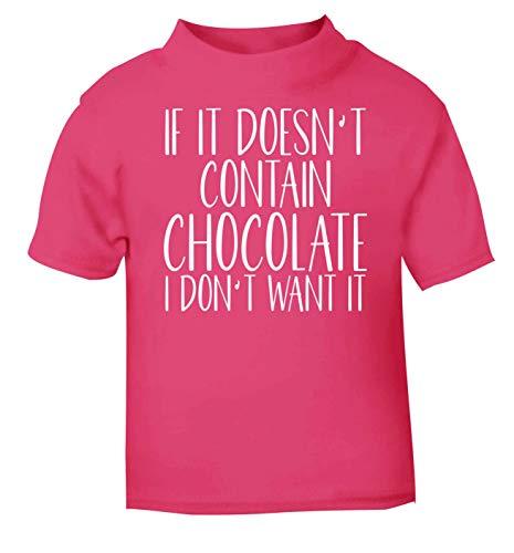 Flox T-Shirt créatif pour bébé Ne Contient Pas de Chocolat - Rose - 1-2 Ans