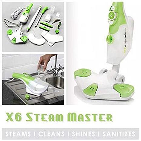 ستيم ماستر (6 في 1 ستيم ماستر) لا مزيد من المواد الكيميائية استخدم قوة البخار لقتل البكيتيريا و الحشرات (1300 واط من قوة البخار)