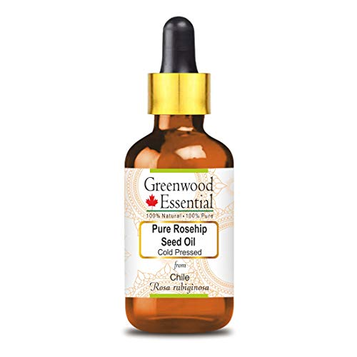 Greenwood Essential - Aceite puro de semilla de rosa mosqueta (Rosa rubiginosa)...