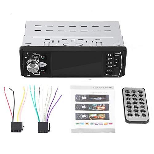 Reproductor de DVD para automóvil, 4.1 pulgadas HD Bluetooth Manos libres para automóvil Reproductor MP5 Reproducción de video Radio FM Tarjeta de memoria AUX Control rem(Sin cámara)