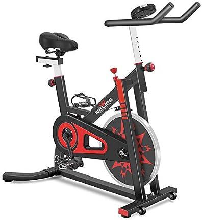 RELIFE REBUILD YOUR LIFE Bicicleta estática de interior Bicicleta estática con resistencia Entrenamiento en casa Gimnasio CardioFitness Máquina Vertical Bike