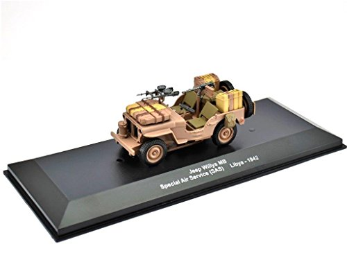 IXO/ALTAYA/ATLAS Jeep Willys MB-SAS Maßstab 1:43 Fertigmodell aus Metall in Displayvitrine