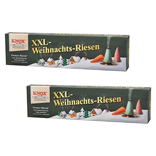 KNOX  Räucherkerzen  XXL Weihnachtsriesen, Zwetzer Riesen, inklusive Glimmschale, Made in Germany, 2er Packung